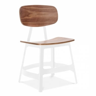 White Yardbird Chair With Walnut Seat And Back - Clearance Sale