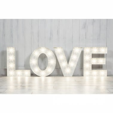 "Turbo 19"" Letter Lights White - A-Z"