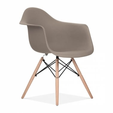 Warm Grey DAW Style Chair