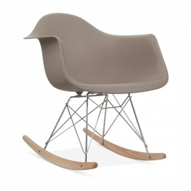 Warm Grey RAR Rocker Chair