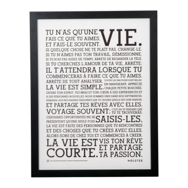 Original LIFE Manifesto Poster - French