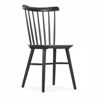 Wooden Windsor Chair - Black
