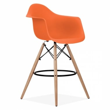 DAW Style Stool - Orange 68cm