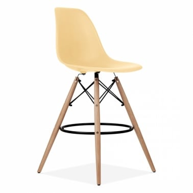 Eames Style DSW Stool - Peach 71 cm
