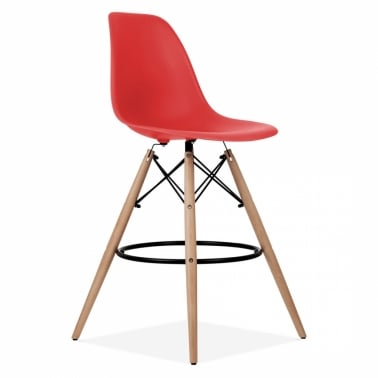 DSW Style Stool - Red 71cm