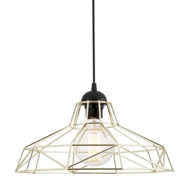 Industrial Harlow Cage Light - Chrome
