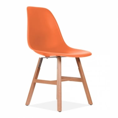 DSW Side Chair With Windsor Style Legs - Orange