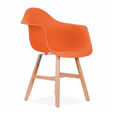 DAW Side Chair With Windsor Style Legs – Orange