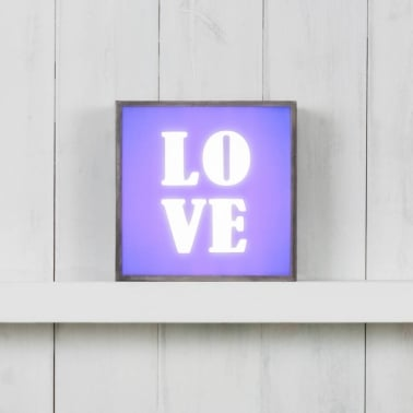 (Insert Only) for Square Light Box - Love