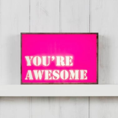 (Insert Only) For Classic Light Box - You're Awesome