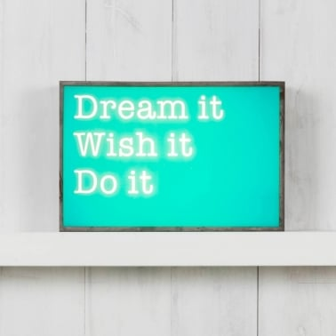 (Insert Only) For Classic Light Box - Dream It Wish It Do It