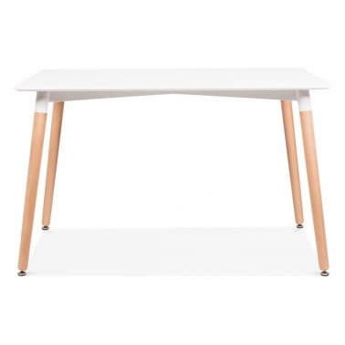 Edelweiss Rectangle Table – White