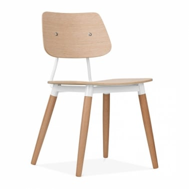 Oslo Chair Natural Wood - White