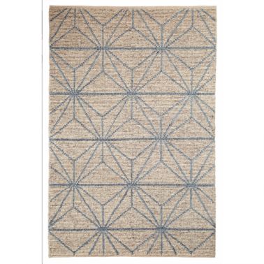 Alpha Rug - Blue and Beige