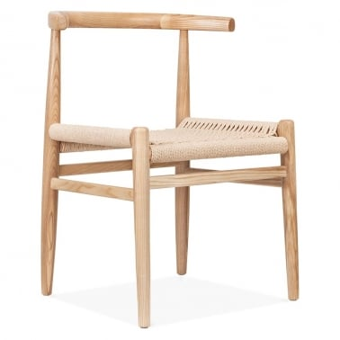 Nordic Chair With Weave Seat - Natural