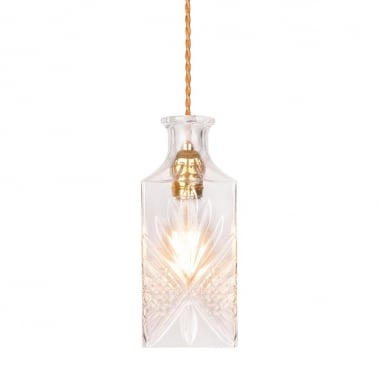 Cognac Decanter Hanging Light - Clear