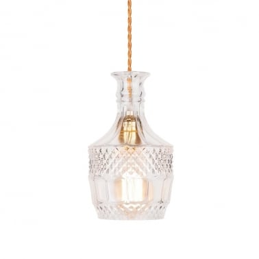 Brandy Decanter Hanging Light - Clear
