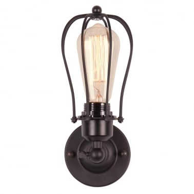 Marconi Small Caged Single Sconce Wall Light