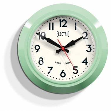 "The Small ""Electric"" Wall Clock - Kettle Green"