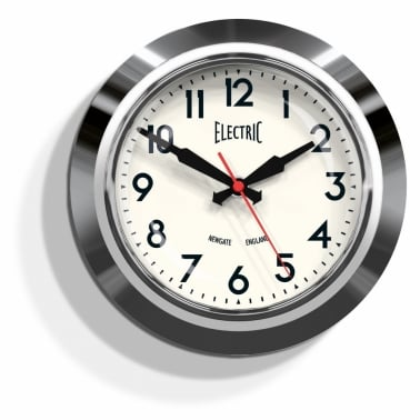 "The Small ""Electric"" Wall Clock - Chrome"