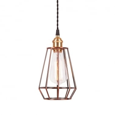 Teardrop Cage Lamp - Copper