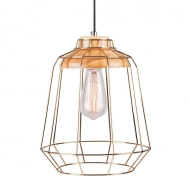 Scandi Tall Cage Light - Gold