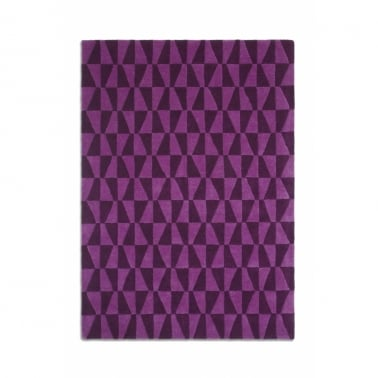 Geometric Rug - Black/Purple