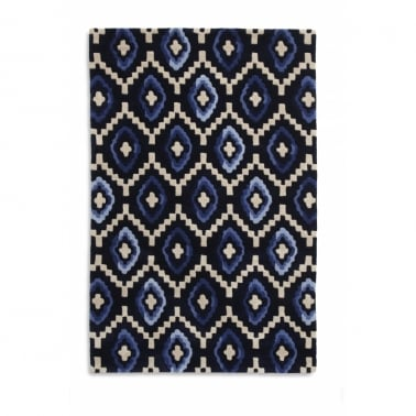 Origins Rug - Black/Blue