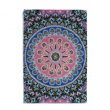 Nomadic Rug in Rectangle or Circle - Pink/Blue