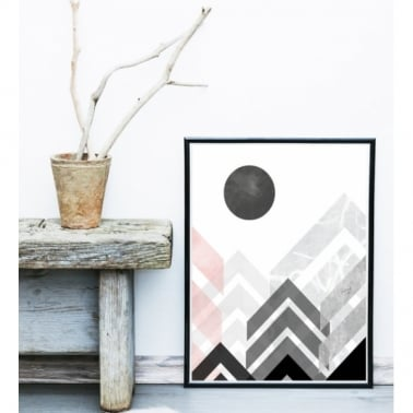 Geometric Graphic Abstract Art Framed Print