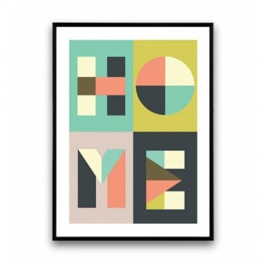 Geometric Home Art Framed Print - A2 or A3