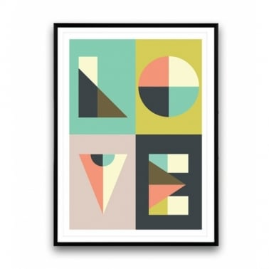 Geometric Love Art Print - A2