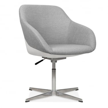 Monza Lounge Chair With Aluminium Leg - Cool Grey