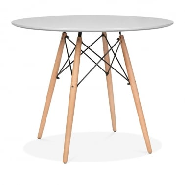 Light Grey DSW Dining Round Table - Diameter 90cm