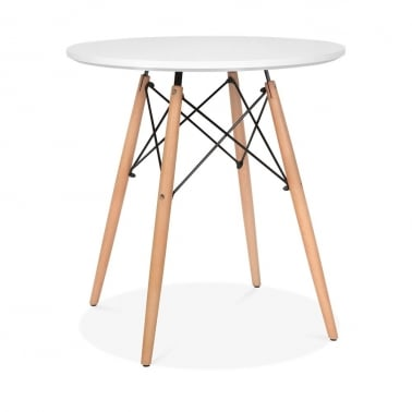 White DSW Dining Round Table - Diameter 70cm