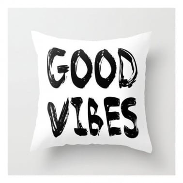 Scandinavian Good Vibes Cushion - White