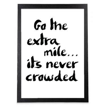 Extra Mile Typography Poster - Black Frame