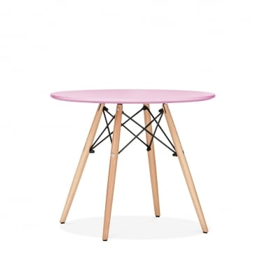 DSW Pastel Pink Kids Round Dining Table - Diameter 60cm