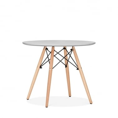 Light Grey Kids DSW Round Dining Table - Diameter 60cm