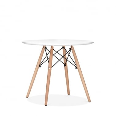 DSW White Kids Round Dining Table - Diameter 60cm
