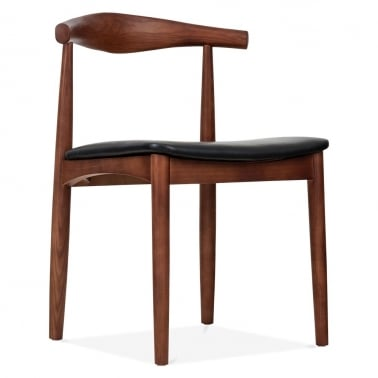 Elbow Chair Brown With Black Seat