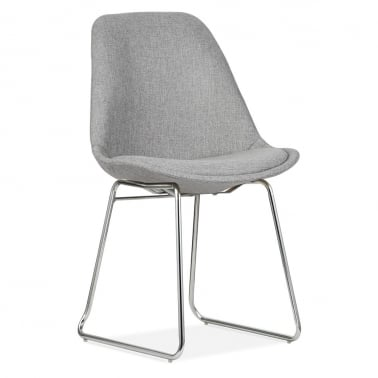 Upholstered Dining Chairs with Soft Pad Seat - Cool Grey