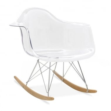 Transparent RAR Rocker Chair