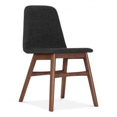 Amara Upholstered Dining Chair - Dark Grey