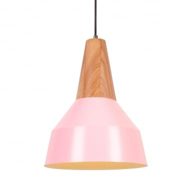 Stockholm Cone Metal Pendant Light - Pink