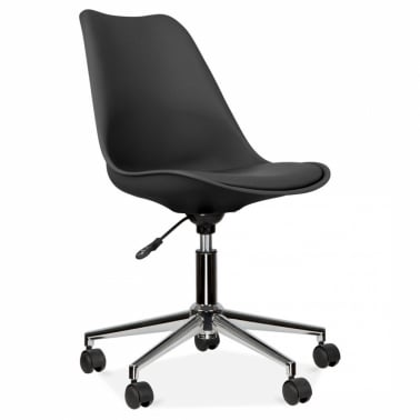 Black Office Chair With Soft Pad Seat
