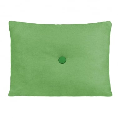 Poet Cushion With Single Button - Green with Dark Green Button