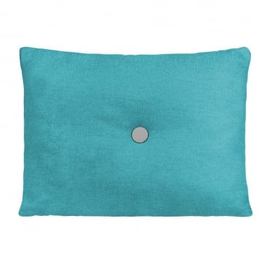 Poet Cushion With Single Button - Turquoise