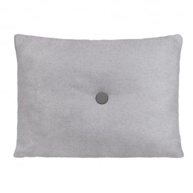 Poet Cushion With Single Button - Grey with Dark Grey Button