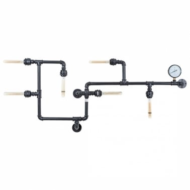 Industrial Pipework Art Light - Black